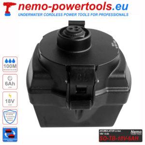 Akumulator do narzedzi Nemo Power Tools 6 Ah 18V SO