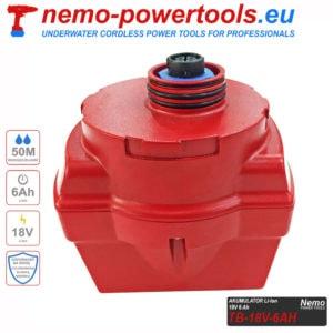 Akumulator do narzedzi Nemo Power Tools 6 Ah 18V