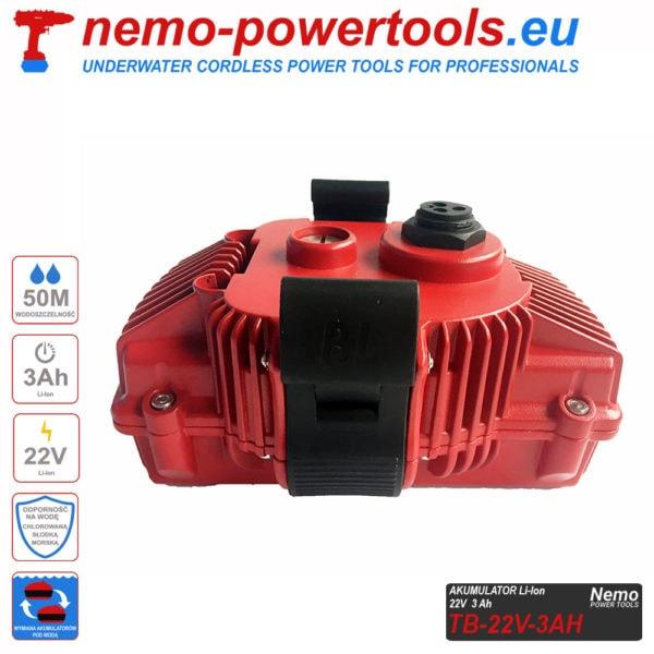 Akumulator do narzedzi Nemo Power Tools 3Ah 22V V2