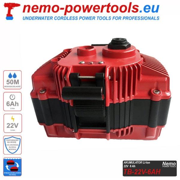 Akumulator do narzedzi Nemo Power Tools 6Ah 22V V2