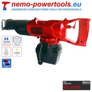akumulatorowa piła szablasta do prac pod wodą Nemo RS 18-50 nemo-powertools.eu