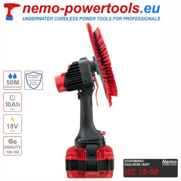 akumulatorowa szorowarka do prac pod wodą Nemo RS 18-50 nemo-powertools.eu