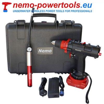 Wkrętarko wiertarka do prac pod wodą Nemo DD 18-50 Divers Drill nemo-powertools.eu