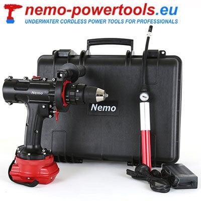 Wkrętarko wiertarka udarowa do prac pod wodą Nemo HD 18-50 nemo-powertools.eu